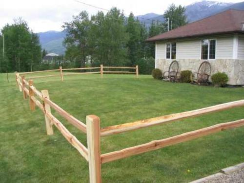 Cedar split rail at sound lumber