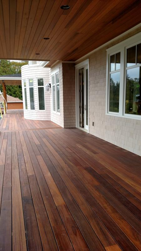 Mahogany Decking At Sound Cedar Lumber