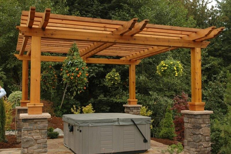 Timbers and beams at sound cedar lumber for What does pergola mean